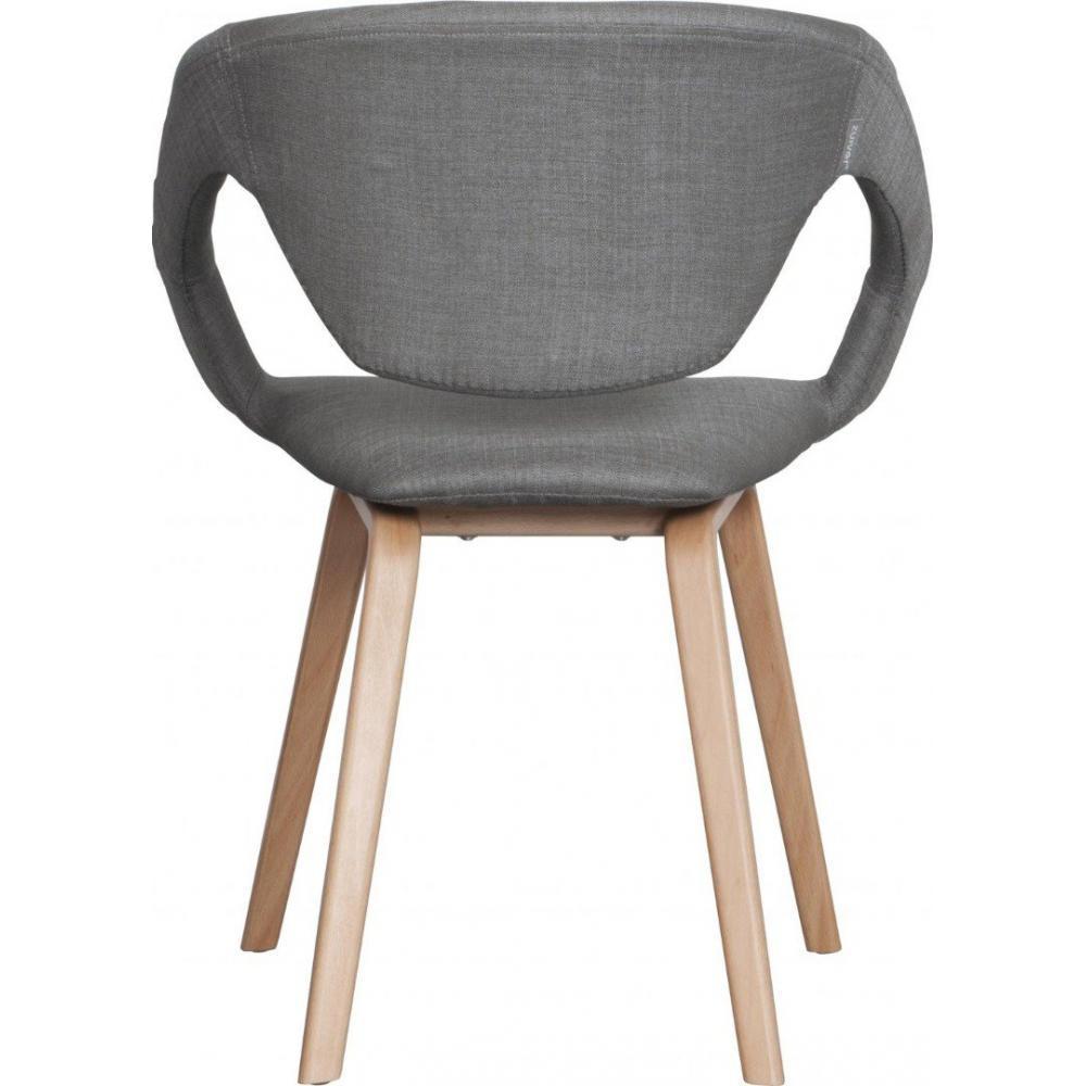 Chaises tables et chaises zuiver chaise flex back gris for Chaise bois gris