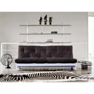 Banquette lit blanc futon FRESH grey graphite 3 places convertible couchage 140*200cm