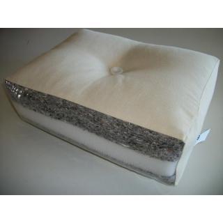Banquette lit blanc futon FRESH 3 places convertible couchage 140*200cm