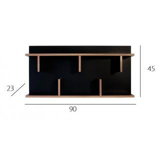 biblioth ques tag res meubles et rangements etag re murale temahome bern noire et bois 90 cm. Black Bedroom Furniture Sets. Home Design Ideas