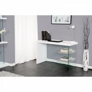 bureaux meubles et rangements bureau space blanc laqu inside75. Black Bedroom Furniture Sets. Home Design Ideas