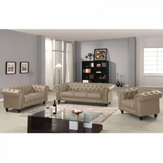 Canapé fixe CHESTERFIELD ROYAL 3 Places Taupe