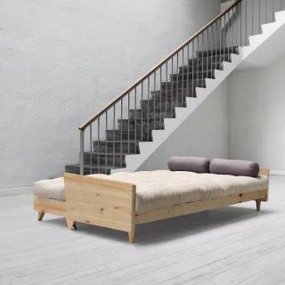 Canapé 3/4 places convertible INDIE style scandinave matelas futon couchage 130*190cm