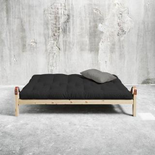 Canapé 3/4 places convertible POETRY style scandinave futon dark grey couchage 130*190cm