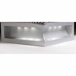 Canapé d'angle gigogne convertible express CARLOW noir et blanc avec piétement Led couchage 140*195cm