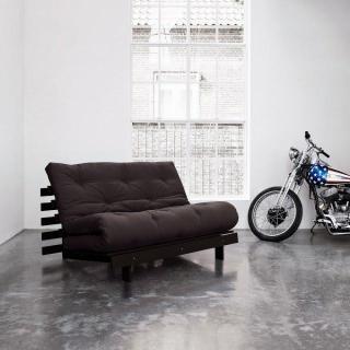 Canapé BZ wengé ROOTS WENGUE futon grey graphite couchage 140*200cm