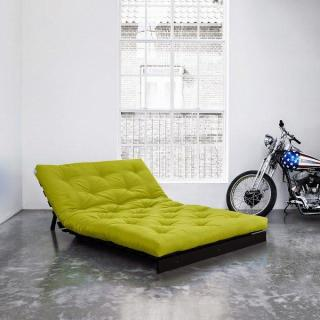 Canapé BZ wengé ROOTS WENGUE futon vert pistache couchage 140*200cm