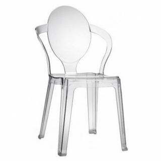 Lot de 2 chaises design SPOT en plexiglas