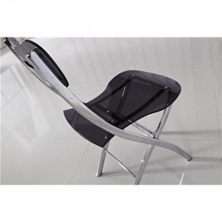 chaises pliantes tables et chaises lot de 2 chaises widow design en plexiglas transparent. Black Bedroom Furniture Sets. Home Design Ideas