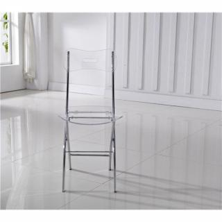 Lot de 2 chaises pliantes WIDOW en plexiglas transparent