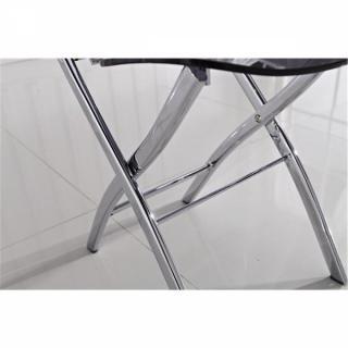 Lot de 2 chaises pliantes WIDOW en plexiglas transparent