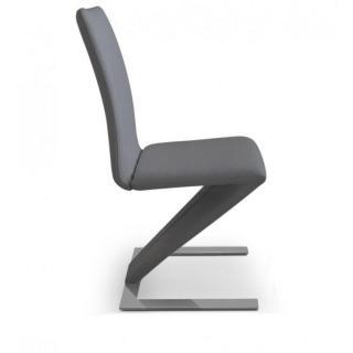 Lot de 2 chaises de salon ZAZ grise.