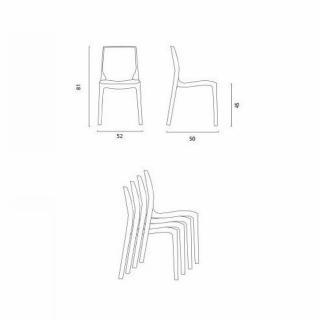 Lot de 2 chaises ICE empilables