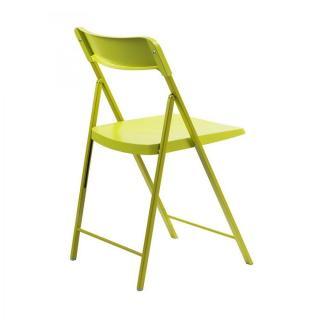 Lot de 2 chaises pliantes KULLY en plastique verte