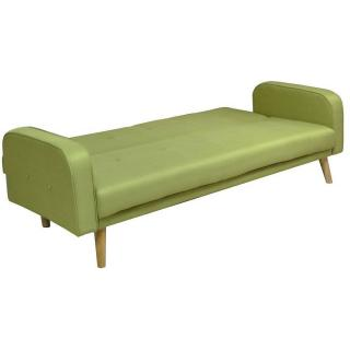 Canapé clic-clac GOTEBORG vert lime convertible style scandinave