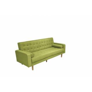 Canapé clic-clac HELSINKI vert lime convertible style scandinave