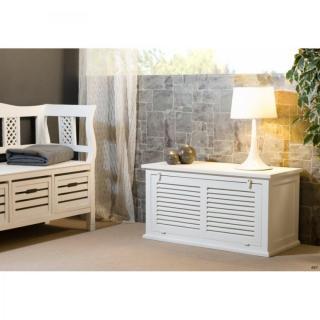 coffres meubles et rangements coffre eva en bois blanc. Black Bedroom Furniture Sets. Home Design Ideas