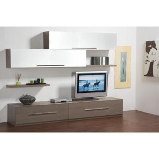 ensemble mural tv meubles et rangements. Black Bedroom Furniture Sets. Home Design Ideas