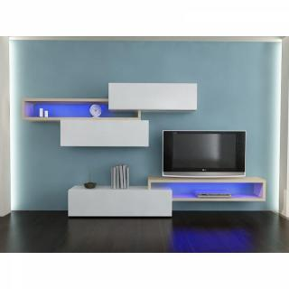 ensemble mural tv meubles et rangements. Black Bedroom Furniture Sets. Home Design Ideas