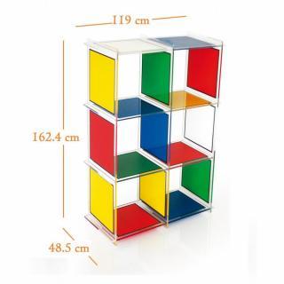 Biblioth ques tag res meubles et rangements etag re cube 6 castelbajac ple - Etagere plexiglas design ...
