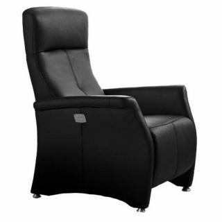 KINGSTON fauteuil relax électrique (bi-moteur) cuir vachette noir