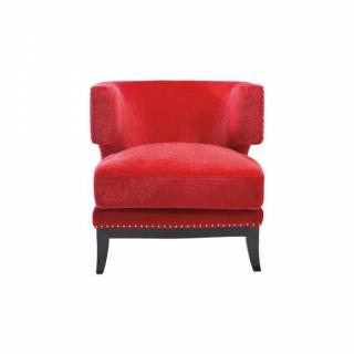 fauteuils et poufs canap s et convertibles fauteuil prince velours rouge inside75. Black Bedroom Furniture Sets. Home Design Ideas