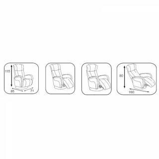 DESIRE fauteuil relax électrique (bi-moteur) cuir vachette taupe