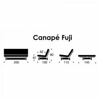 INNOVATION LIVING FUJI Clic-clac matelassé + accoudoirs convertible lit  200*140cm