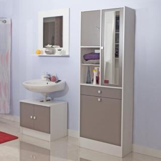 Meubles salle de bain meubles et rangements armoire et - Meuble salle de bain linge sale ...