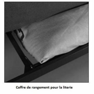 INNOVATION LIVING Clic Clac MINIMUM Gris Smoke Grey  convertible lit 200*140 cm coussins déco inclus