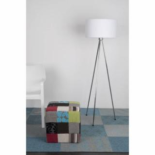 WHITE LABEL LIVING lampadaire NEW TWIST blanc piétement chromé