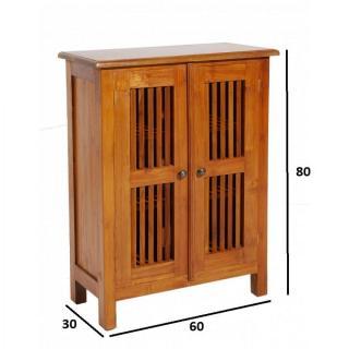 Buffets meubles et rangements meuble 2 portes persienne for Meuble porte persienne