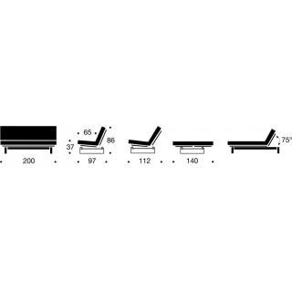 INNOVATION LIVING Clic-clac MINIMUM  convertible lit 200*140 cm