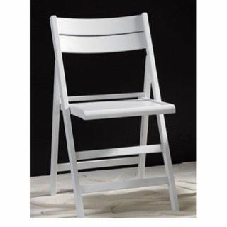 Lot de 2 chaises pliante ROBERT blanche