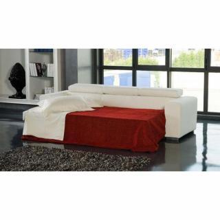 Canapé d'angle gauche SAMUEL convertible lit gigogne en tissu  polyuréthane simili façon cuir noir+ méridienne coffre