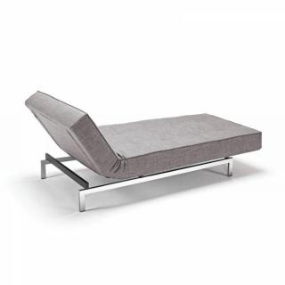 INNOVATION LIVING Meridienne design SPLITBACK gris (mix dance) convertible lit 100*200 cm piétement chromé