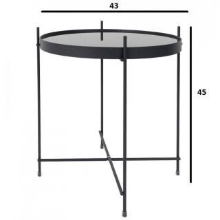 chaises meubles et rangements zuiver table basse cupid acier noir 43 x 45 cm inside75. Black Bedroom Furniture Sets. Home Design Ideas