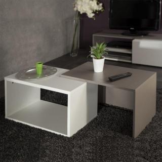 tables basses tables et chaises duet double table basse. Black Bedroom Furniture Sets. Home Design Ideas