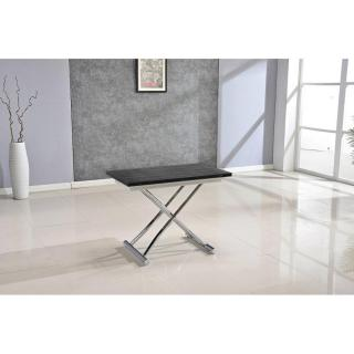 Table basse HIGH and LOW bois ceruse noir relevable extensible Petite taille compacte