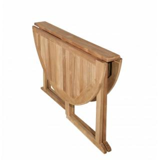 tables tables et chaises table ronde pliante modulable butterfly en teck. Black Bedroom Furniture Sets. Home Design Ideas