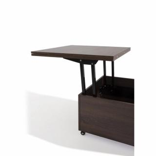 Tables basses tables et chaises table basse relevable extensible giani weng inside75 - Table basse relevable wenge ...