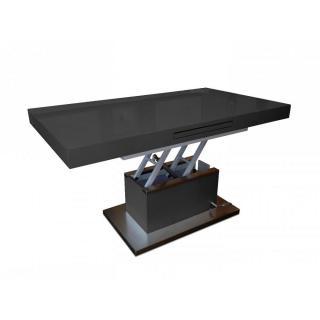 Table basse relevable extensible SETUP noir brillant