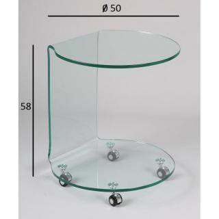 bouts de canapes tables et chaises tulipe bout de canap sur roulettes en verre inside75. Black Bedroom Furniture Sets. Home Design Ideas