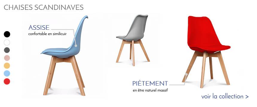 Table de repas design au meilleur prix inside75 - Chaises transparentes design ...