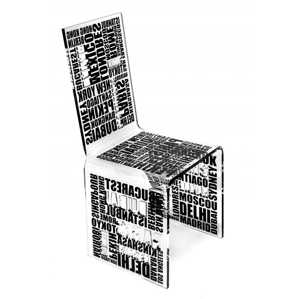 Chaise Acrila Design Plexiglass City Noir