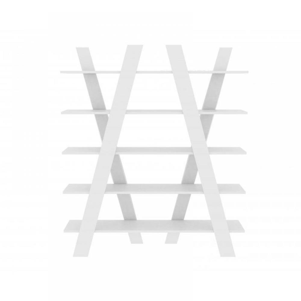 TemaHome WIND bibliothèque étagère design blanche mate. Un design d'exception pour cette bibliothèque aux lignes ép
