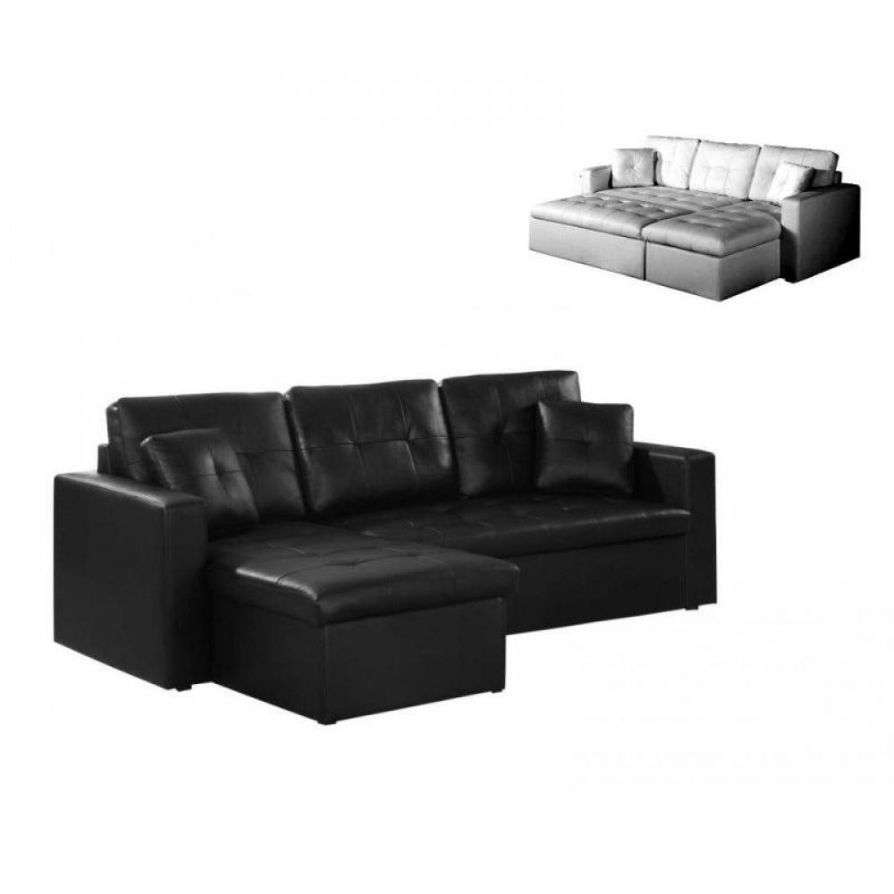 canap s rapido canap lit d 39 angle alabama syst me gigogne m ridienne coffre cuir noir. Black Bedroom Furniture Sets. Home Design Ideas