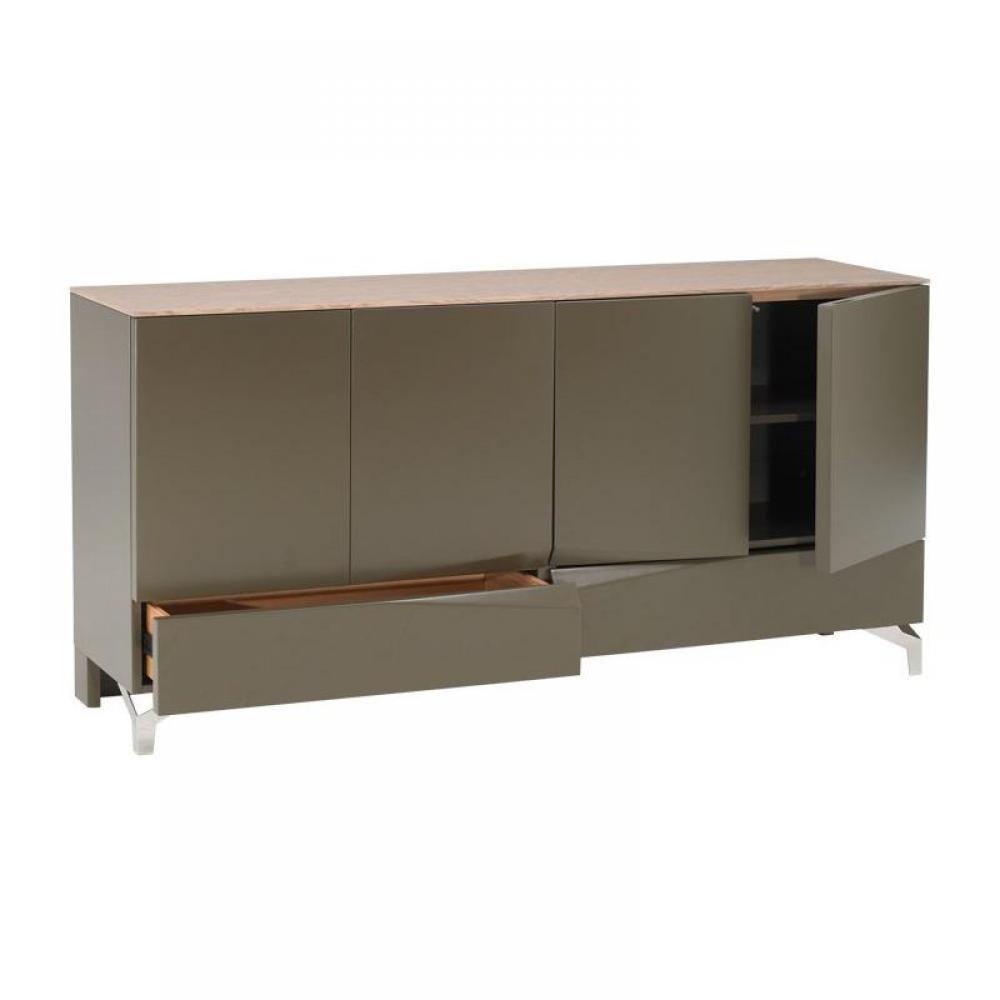 buffets meubles et rangements amandla buffet gris taupe fonc rangements portes tiroirs. Black Bedroom Furniture Sets. Home Design Ideas