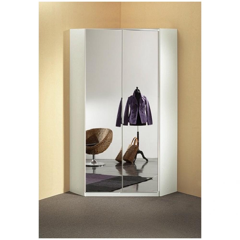 Dressings Et Armoires Meubles Et Rangements Armoire D Angle Dressing Gaby 2 Portes Miroir 95 X 95 Cm Inside75