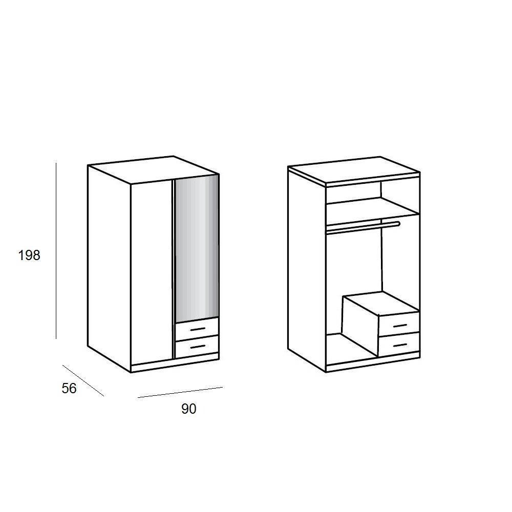 Dressings et armoires meubles et rangements armoire - Armoire penderie 1 porte ...
